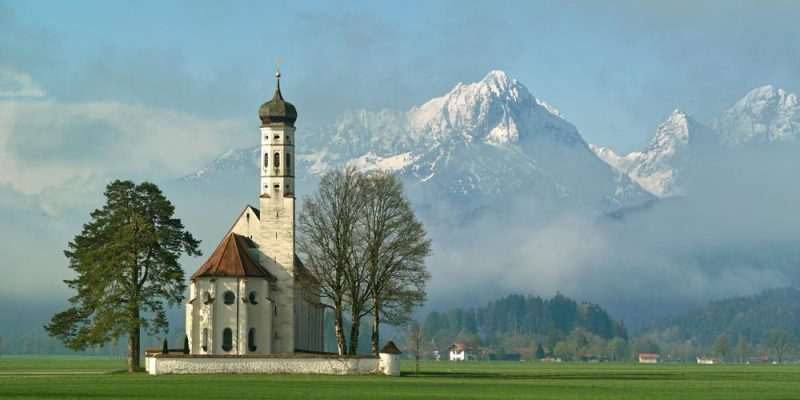 die Kirche Sankt Coloman bei Schwangau