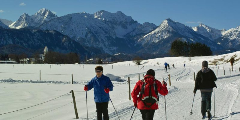 sportliches Wintervergnügen auf den Loipen um Schwangau