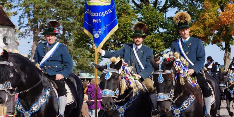 Reiter des Colomanvereines beim Colomansfest